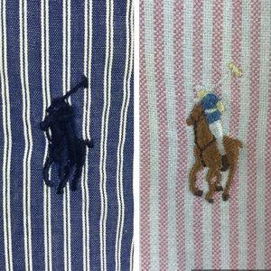 Lot of 2 Ralph Lauren Yarmouth 16-16.5 dress shirt